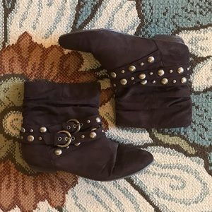 Chinese Laundry Brown Studded Boots- sz 8